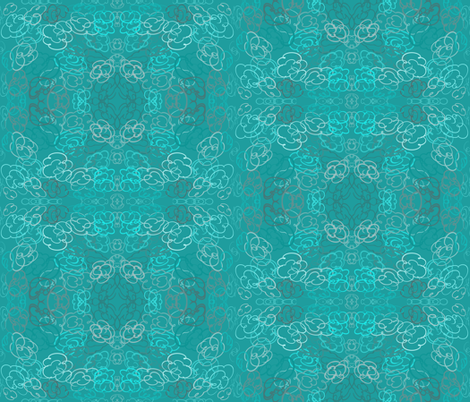 Unchained Mellow Teal fabric by tracydb70 on Spoonflower - custom fabric