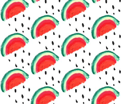 rainbow watermellon2 fabric by stargazingseamstress on Spoonflower - custom fabric