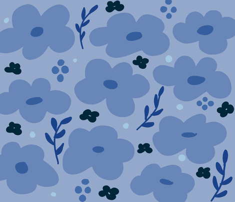 study in blue fabric by the_make_textile_design on Spoonflower - custom fabric