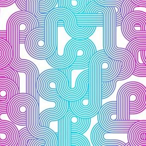 curvy lines blue purple