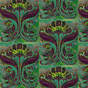 Floral Art Nouveau-Purple