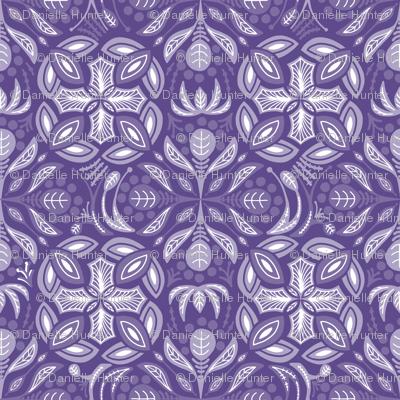 Mysterious Ultra Violet Damask