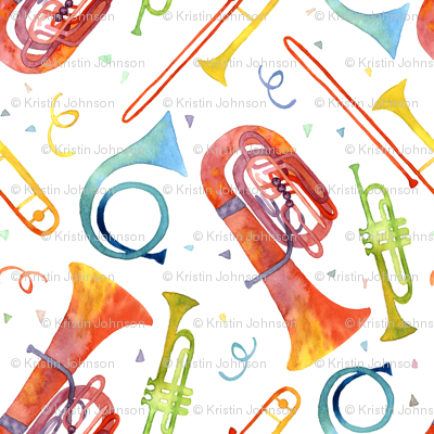 Simple Brass Band Watercolor - Large Scale