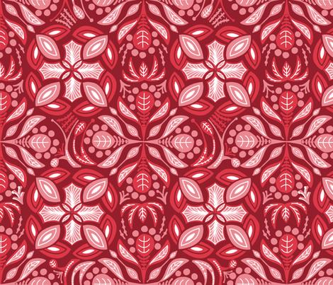 Summer Heat Damask fabric by danidesign on Spoonflower - custom fabric