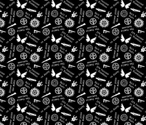 Salt and Burn - White on Black fabric by designedbygeeks on Spoonflower - custom fabric