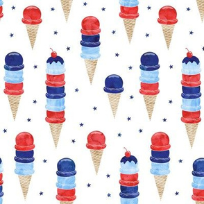 patriotic ice cream - blue stars