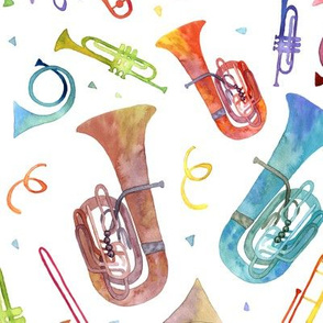 Complex Brass Band Watercolor - Original Scale