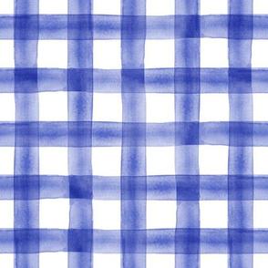 watercolor plaid || blue