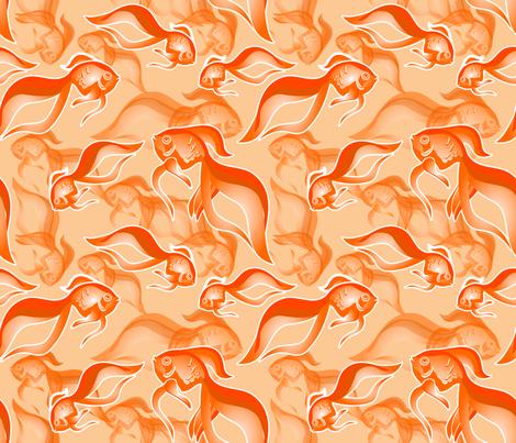 Goldfish Oh Goldfish fabric by mysso on Spoonflower - custom fabric
