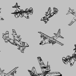 C130s on Grey // Large