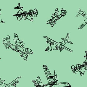 C130s on Green // Large