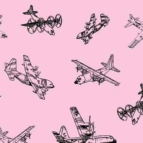 C130s on Pink // Large