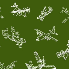 C130s on Army Green // Large