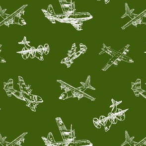 C130s on Army Green // Small