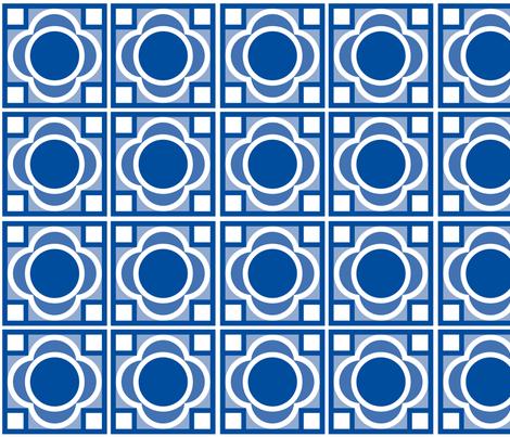 Blue-Flowers fabric by von_leonie on Spoonflower - custom fabric