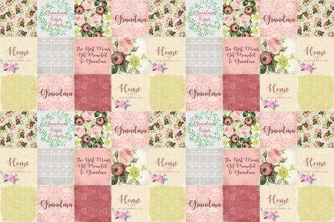 "6"" A Grandmother's Love fabric by mnutt1 on Spoonflower - custom fabric"
