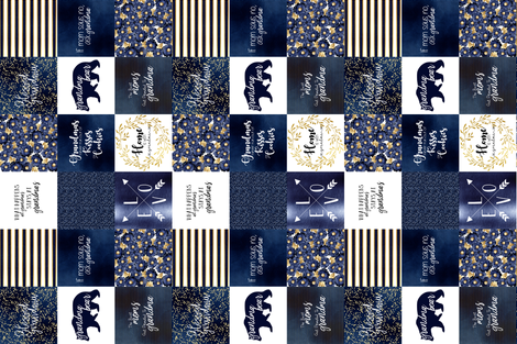 Grandma Navy Recolor Rotated fabric by lacklandacres on Spoonflower - custom fabric