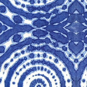 shibori  circle of life indigo