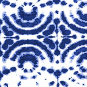 shibori circleflower indigo