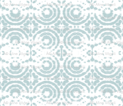 shibori circleflower ice blue
