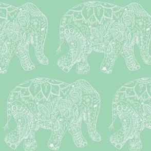henna_elephant-sea foam and white