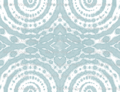 shibori circle of life ice blue