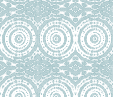 shibori circle of life ice blue fabric by lilalunis on Spoonflower - custom fabric