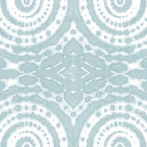shibori circle of life ice blue