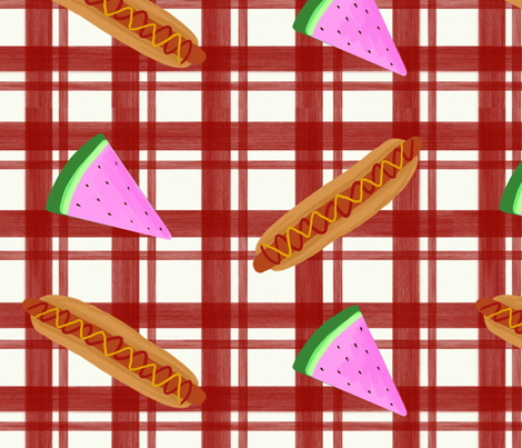 Summer Picnic fabric by kaitlynm647 on Spoonflower - custom fabric