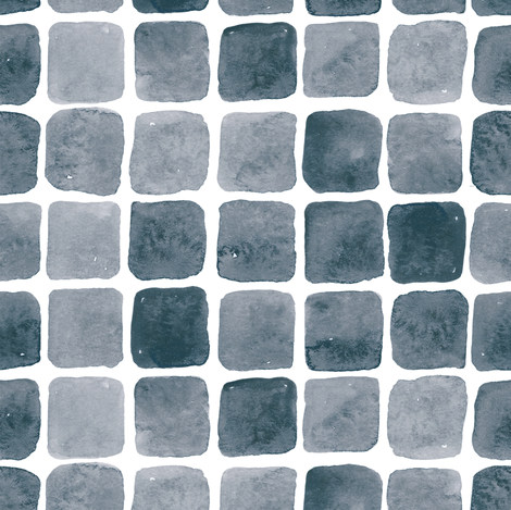 Monochrome Watercolor tiles fabric by yashroom on Spoonflower - custom fabric