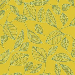 Leafy Line (Gold)