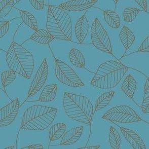 Leafy Line (Teal)