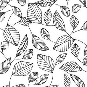 Color It Yourself Leafy Line