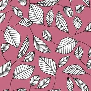 Graphic Leaf (Pink)