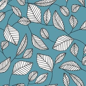 Graphic Leaf (Teal)