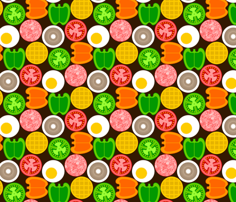 07392345 : on the griddle fabric by sef on Spoonflower - custom fabric
