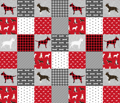 bull terrier pet quilt a dog breed fabric cheater quilt wholecloth fabric by petfriendly on Spoonflower - custom fabric