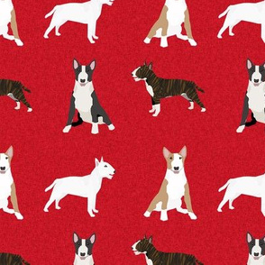 bull terrier pet quilt a dog breed fabric quilt coordinate