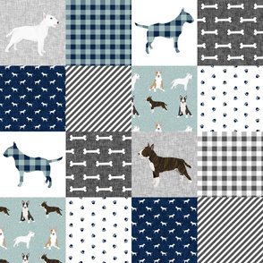 bull terrier pet quilt b dog breed fabric cheater quilt wholecloth