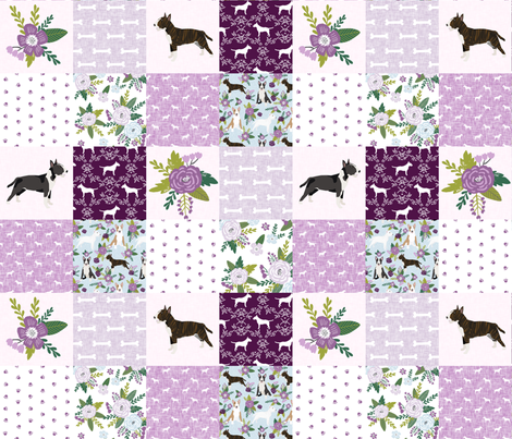 bull terrier pet quilt c dog breed fabric cheater quilt wholecloth fabric by petfriendly on Spoonflower - custom fabric