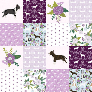 bull terrier pet quilt c dog breed fabric cheater quilt wholecloth