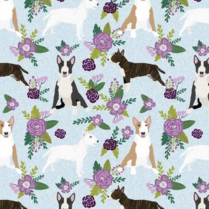 bull terrier pet quilt c dog breed fabric quilt coordinate floral