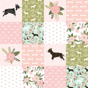 bull terrier pet quilt d dog breed fabric cheater quilt wholecloth