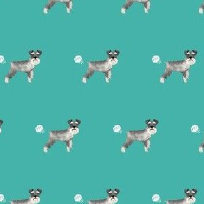 schnauzer funny dog fart fabric pets pure breed dogs teal