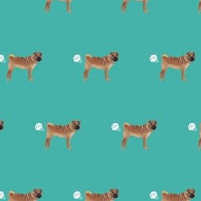 sharpei funny dog fart fabric pets pure breed dogs teal
