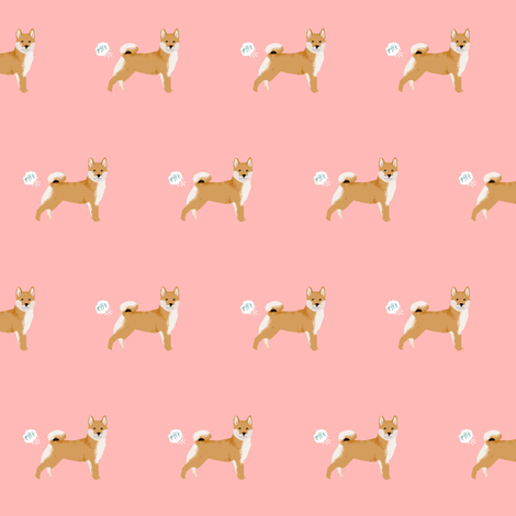 shiba inu funny dog fart fabric pets pure breed dogs pink fabric by petfriendly on Spoonflower - custom fabric