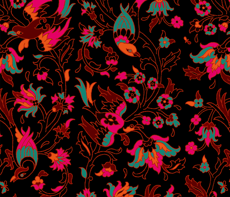 Islamic Birds 1g fabric by muhlenkott on Spoonflower - custom fabric
