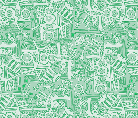 monochromabstract green fabric by lalalamonique on Spoonflower - custom fabric