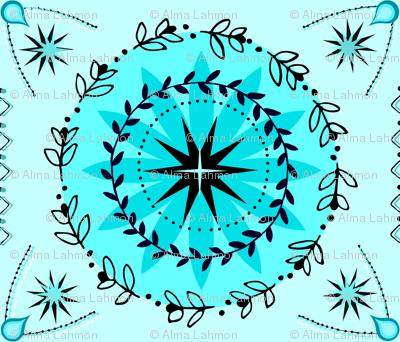 Kaleidoscope Blue