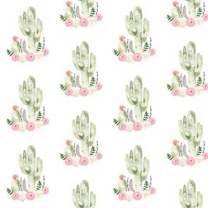 Peach Floral Cactus Smaller